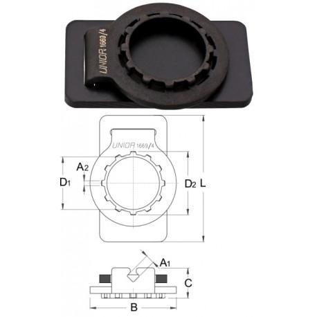 Ключ комбиниран за спици и венец касета